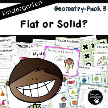 Geometry Pack 3-Flat or Solid? (Kindergarten-K.G.3)