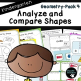 Analyze and Compare Shapes-Pack 4 (Kindergarten-K.G.4)