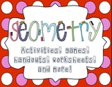 Geometry Packet-Games, activities, quizzes, and worksheets!