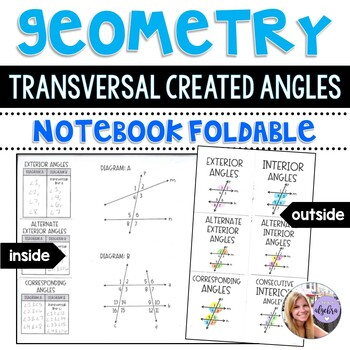 Geometry - Parallel Lines and Angle Measures - Foldable