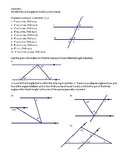 Geometry -- Parallel lines and angle clusters