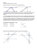 Geometry -- Parallel lines and the angles formed by a transversal