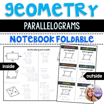 Geometry - Parallelograms Foldable