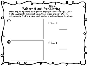 Geometry: Partitioning Shapes~ 3.G.2