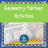 Geometry Partner Activities with Area, Volume and Surface Area
