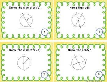 Geometry - Parts of a Circle Set 2