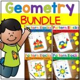 Geometry Pattern Block Mats Worksheets Math Centers BUNDLE