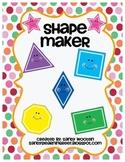 1.G.2, 2.G.1 Geometry Pattern Block Shape Maker Math Station & Math Talk Card