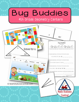 Geometry Patterns, Lines, Angles, and Shapes:  Bug Buddies