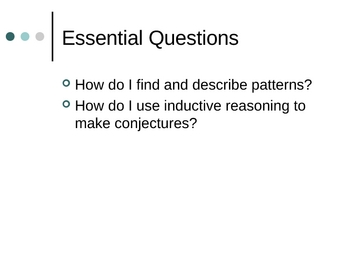 Geometry: Patterns and Inductive Reasoning