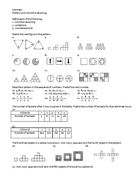 Geometry Assignment -- Patterns and inductive reasoning by Math Fellow