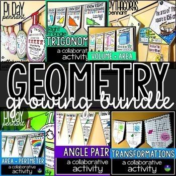 Geometry Pennants Growing Bundle
