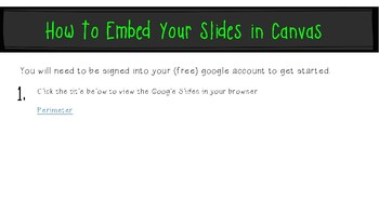 Geometry Perimeter: Google Slides to Embed in Canvas