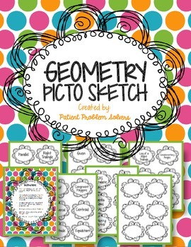 Geometry Picto Sketch: Math Vocab Drawing game