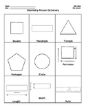 Geometry Picture Dictionary - ESL or SIFE Math