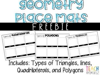 Geometry Place Mats {Freebie}