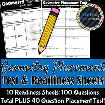 Geometry Placement Test & Readiness Sheets