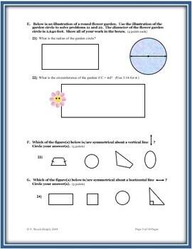 Plane Geometry: A 100 Point Cumulative Assessment - EDITABLE