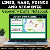 Plane Figures Lines Google® Geometry Interactive Notebook