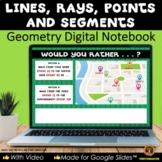 Plane Figures Lines for Google Slides® Digital Notebook