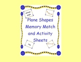 Geometry Plane Shapes Match and Activity Sheets