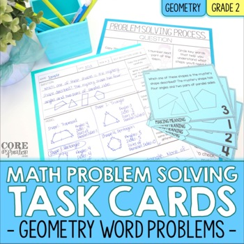 Geometry (Plane and Solid Figures) - Write To Explain Math Task Cards