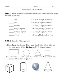 Geometry - Plane and Solid Shapes