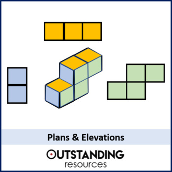 Geometry: Plans and Elevations Lesson (3D into 2D) + resources