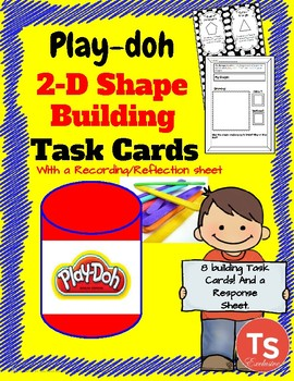 Geometry: Play-doh 2D Shape Building Task Cards