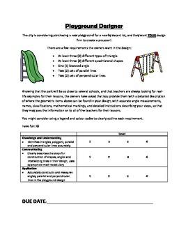 Geometry Playground Unit Task