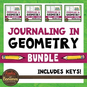 Journaling in Geometry: Points, Lines, Planes, and Angles Bundle