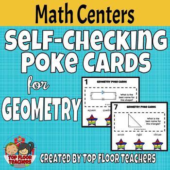 Geometry Poke Cards