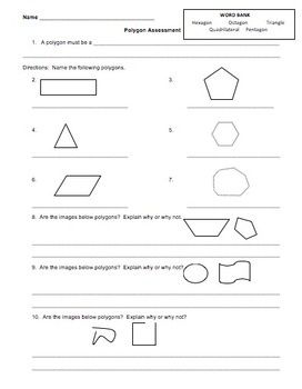 Geometry:  Polygon Mastery Assessment