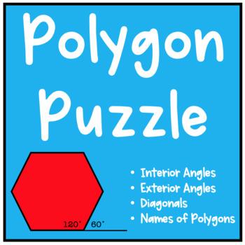 Geometry Polygon Puzzle (Interior Angles, Exterior Angles, Diagonals)