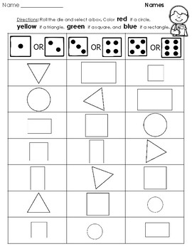 Geometry - Polygons (2D Geometric Figures) Shapes Printables (No Prep)