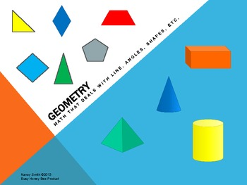 Geometry, Polygons, Angles, Pattern Blocks, Solids, and Graphing