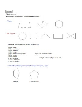 Geometry Polygons Lesson