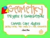 Geometry: Polygons & Quadrilaterals Math Centers 3rd Grade
