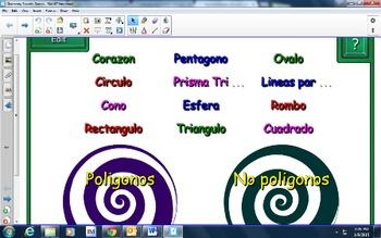 Geometry Polygons Spanish Smartboard Game Vortex Geometria