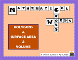 Polygons & Surface Area & Volume Crosswords (2-Pack)
