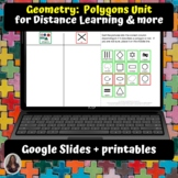 Geometry Polygons Unit for Special Ed for google classroom
