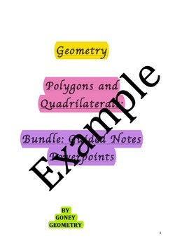 Geometry Polygons and Quadrilaterals: Guided Notes and Powerpoint