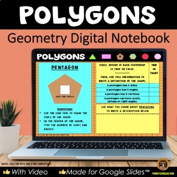 Geometry Polygons for Google Drive® Interactive Digital Notebook