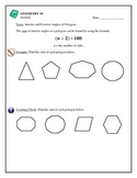Geometry -Polygons with Algebra, Interior Angle Sum