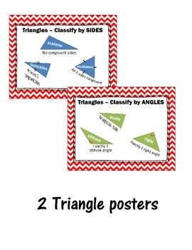 Geometry Poster Bundle - Polygons, Quadrilaterals, Triangles