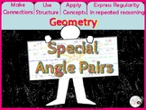 Geometry Poster: Special ANGLE PAIRS / Interactive Notebook