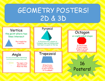Geometry Posters 2D & 3D