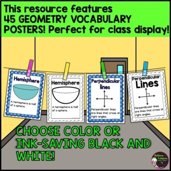 Geometry Posters- 45 posters in all!