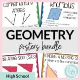 Geometry Posters Bundle  [Geometry Word Wall]