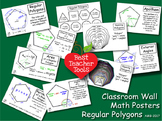 Geometry Posters, Math Concept Posters, Polygons Wall Posters, AMB-2017